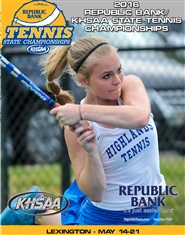 2016 Republic Bank/KHSAA Tennis State Championship Program (B&W) cover image