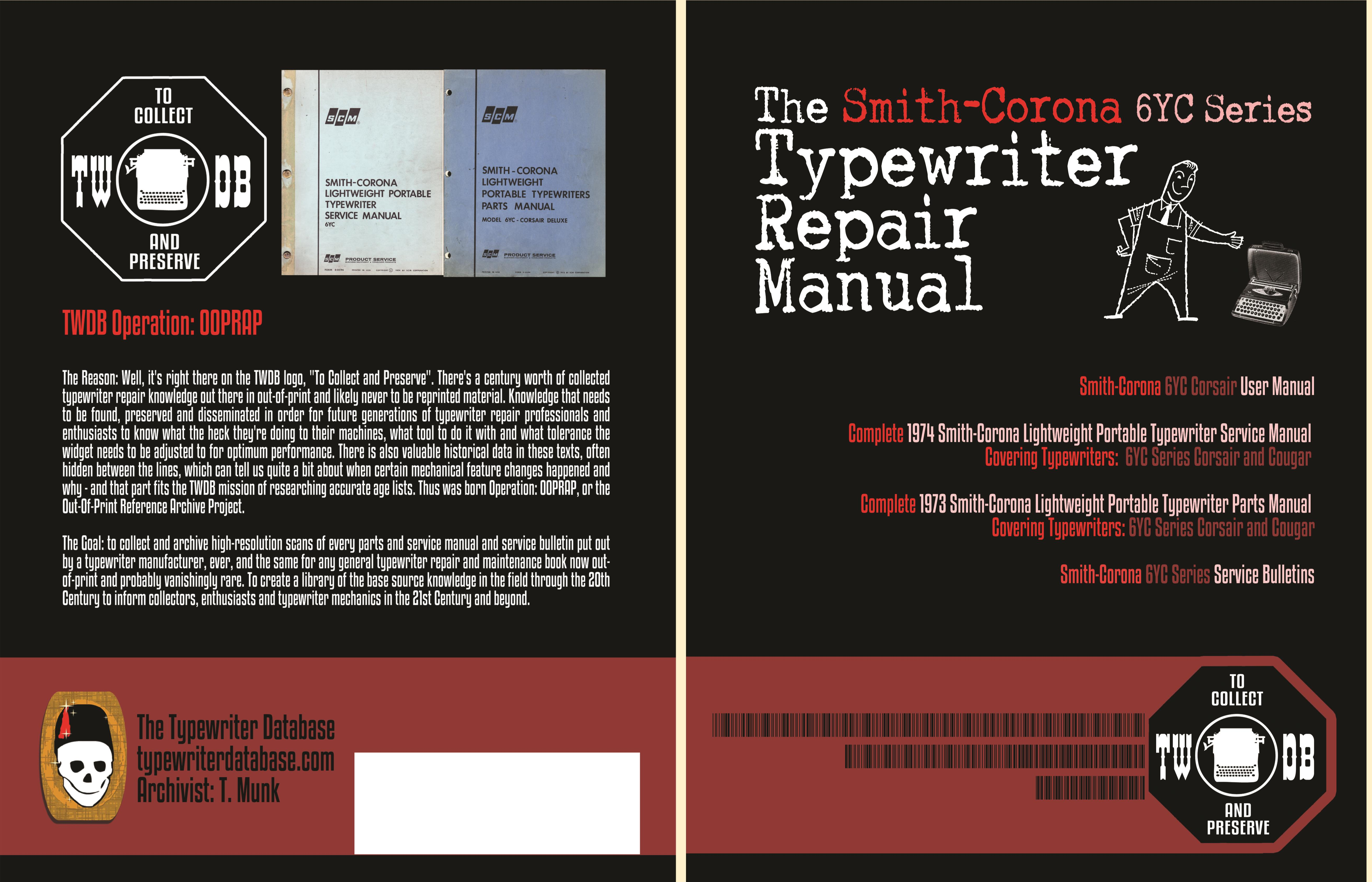 The Smith-Corona 6YC Series Typewriter Repair Manual cover image