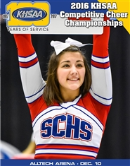 2016 KHSAA Competitive Cheer Championship Program (B&W) cover image