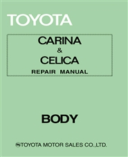 1975 Toyota Celica Carina Body Manual cover image