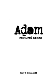 Adam - Restored Names cover image