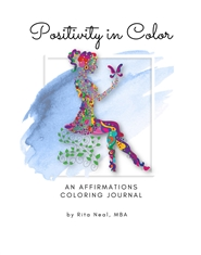Positivity in Color: An Affirmations Coloring Journal cover image