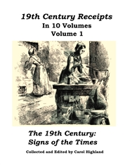 19th Century Receipts Volume 1 cover image