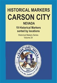 Historical Markers CARSON CITY, Nevada cover image