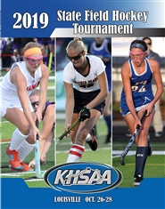 2019 KHSAA Field Hockey State Championship Program cover image