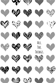 All The Things Notebook - Hearts cover image