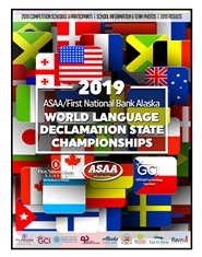 2019 ASAA/First National Bank Alaska World Language Declamation Program cover image