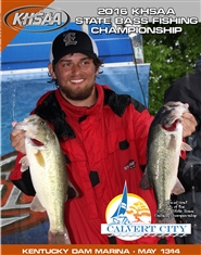 2016 KHSAA Bass Fishing State Championship Program cover image