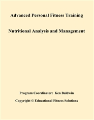 Advanced Personal Fitness Training Nutritional Analysis and Management cover image