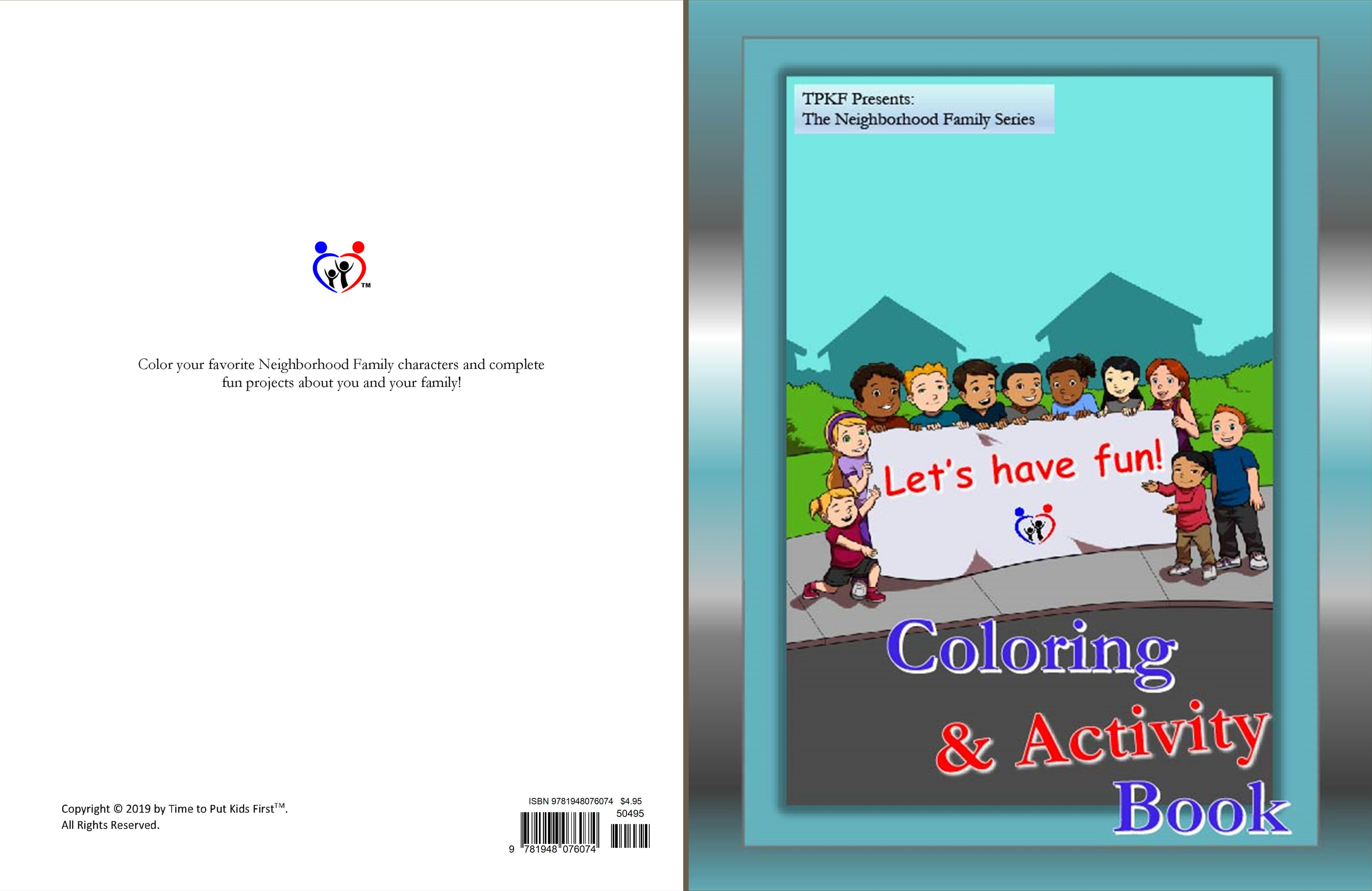 TPKF Coloring & Activity Book cover image