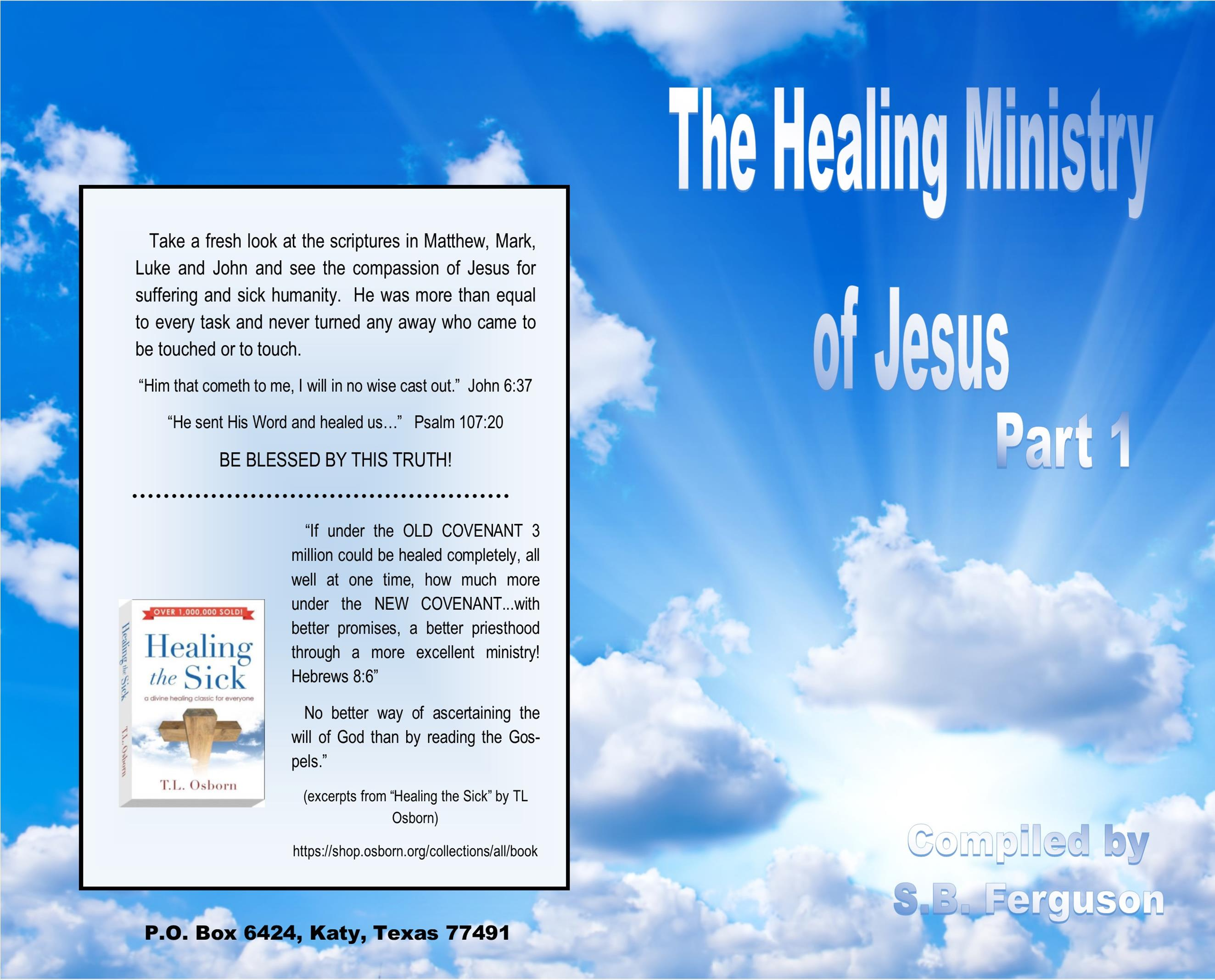 The Healing Ministry of Jesus Part 1 cover image