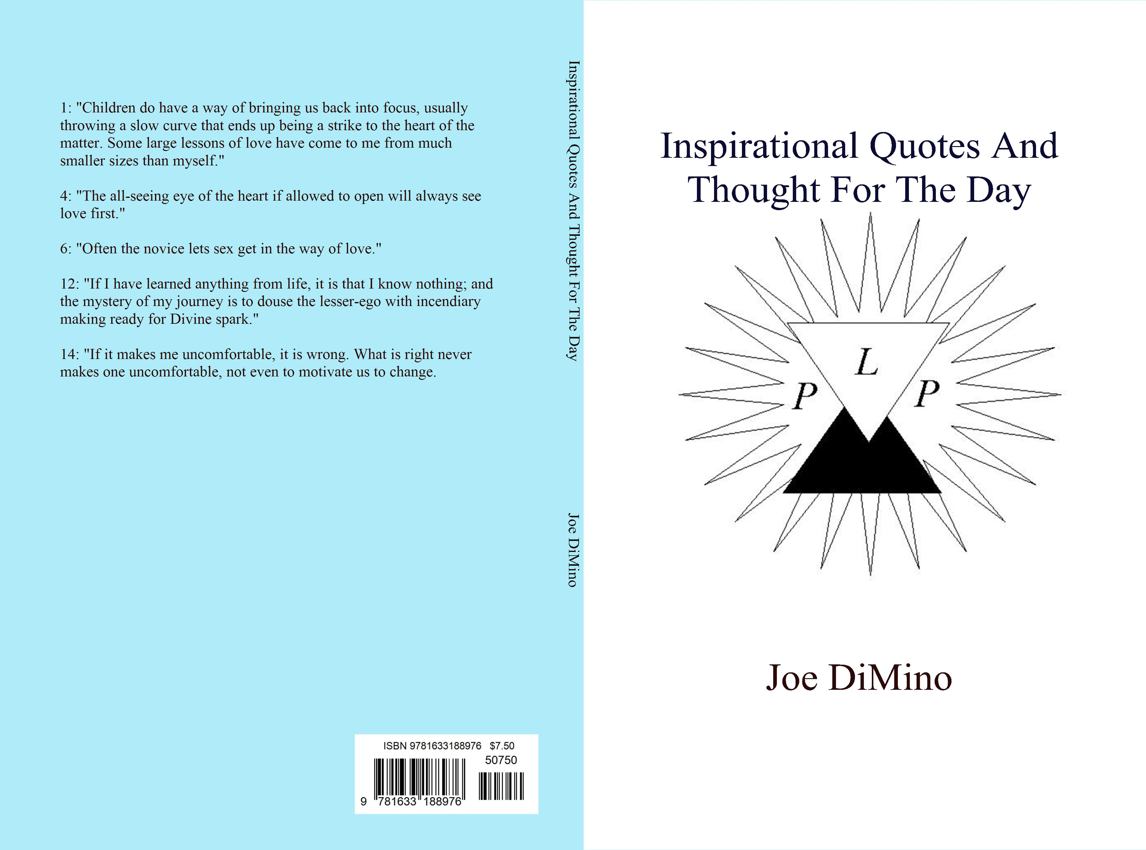 Thought For The Day Quotes Best Inspirational Quotes And Thought For The Dayjoe Dimino  $7.50