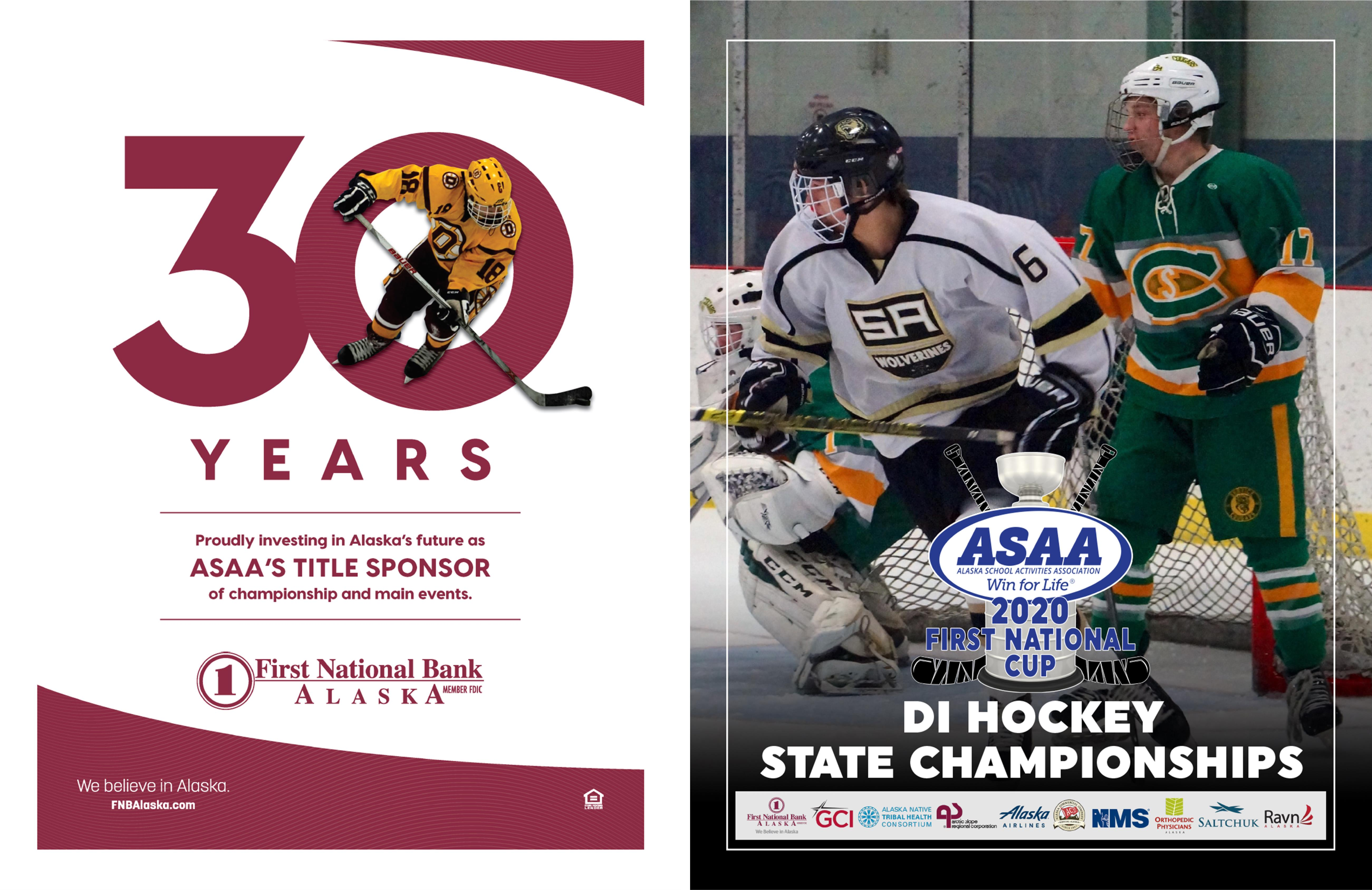 2020 First National Cup Division I Hockey State Championship Program cover image