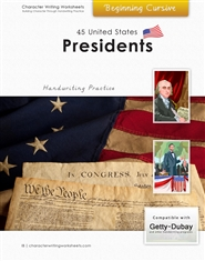 44 United States Presidents - Getty-Dubay, Beginning Cursive cover image