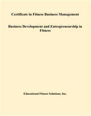 Certificate in Fitness Business Management Business Development and Entrepreneurship in Fitness cover image