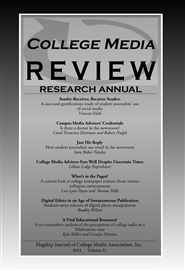 College Media Review Research Annual 2014 cover image