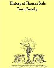 History of Thomas Sirls Terry Family cover image