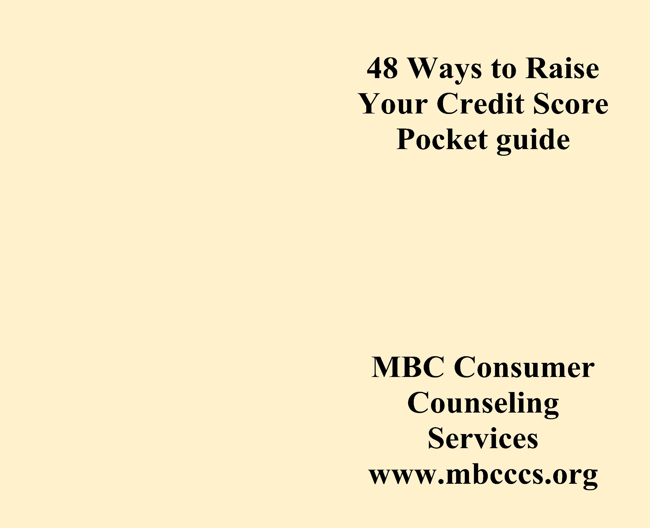 48 Ways to Raise Your Credit Score Pocket guide cover image