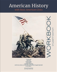 American History with Basic American Civics Workbook -Student Edition  cover image