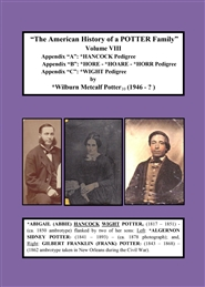The American History of a POTTER Family - Volume VIII cover image