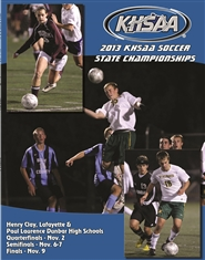 2013 KHSAA Soccer State Championship Program (B&W) cover image