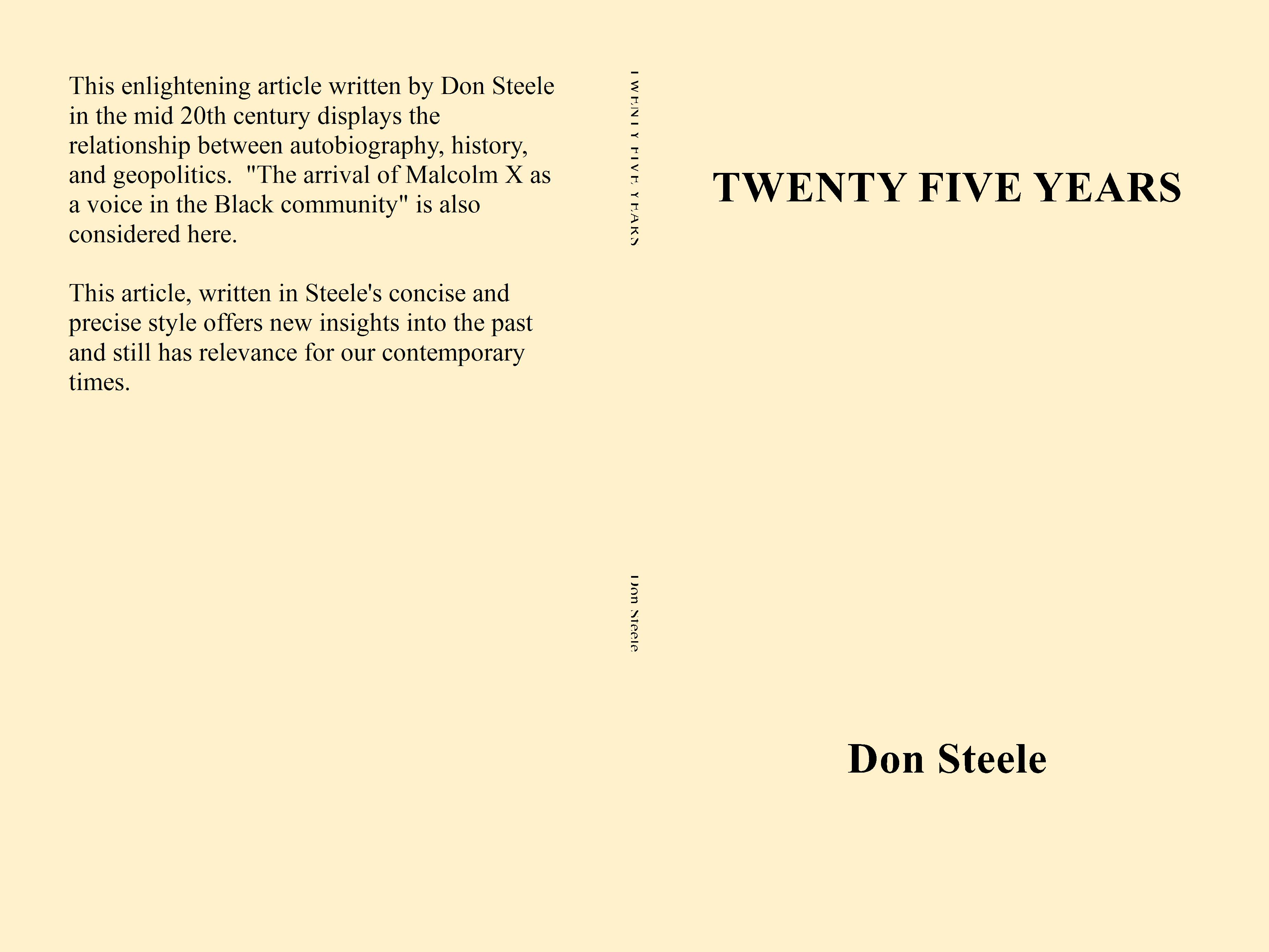 TWENTY FIVE YEARS cover image
