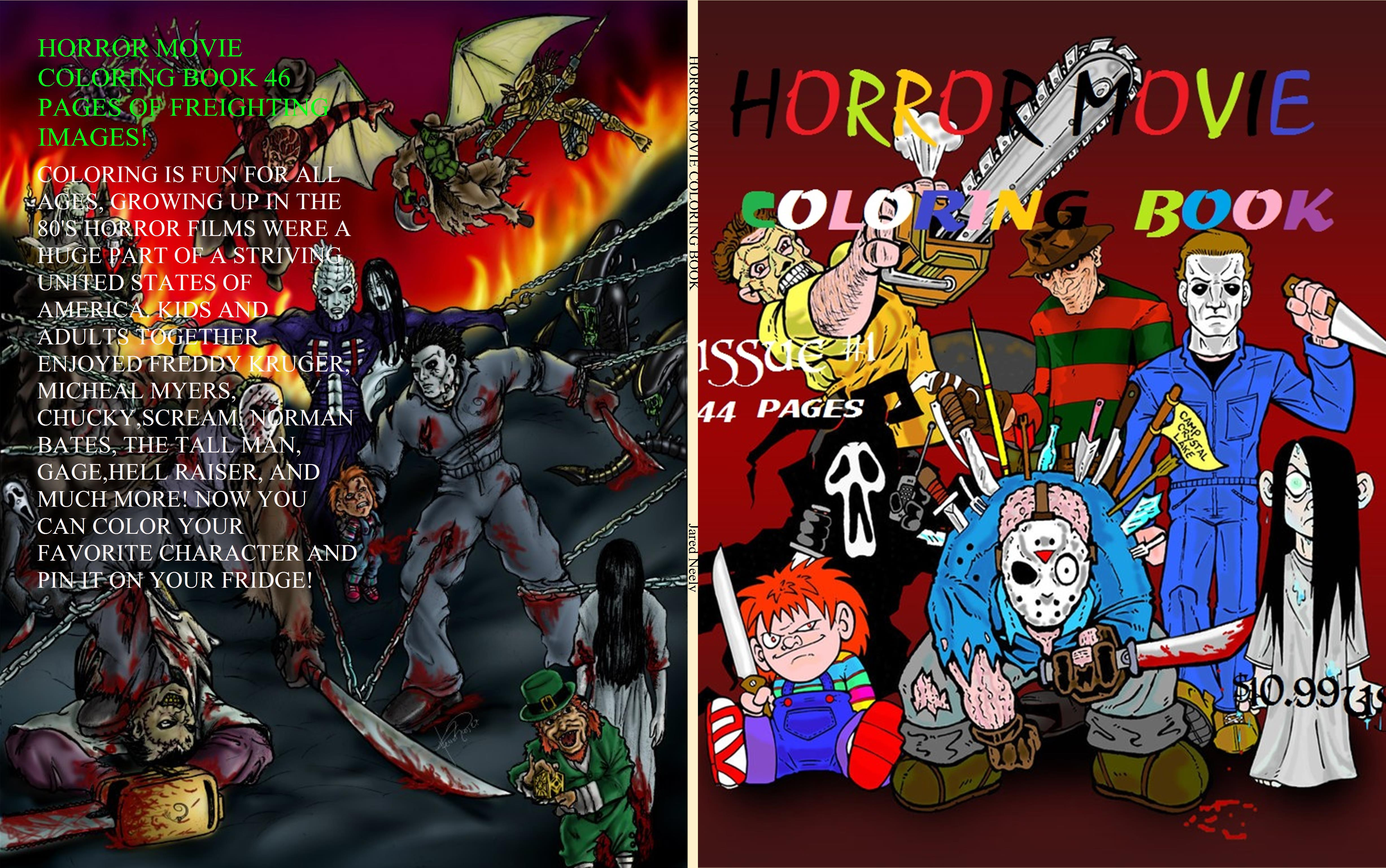 horror movie coloring book by jared neely 4 58 thebookpatch com