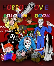 HORROR MOVIE COLORING BOOK cover image