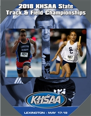 2018 KHSAA Track & Field State Meet Program (B&W) cover image