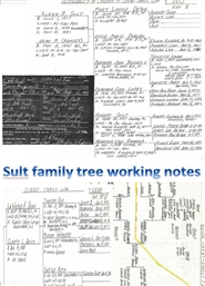 Sult Family tree working notes cover image
