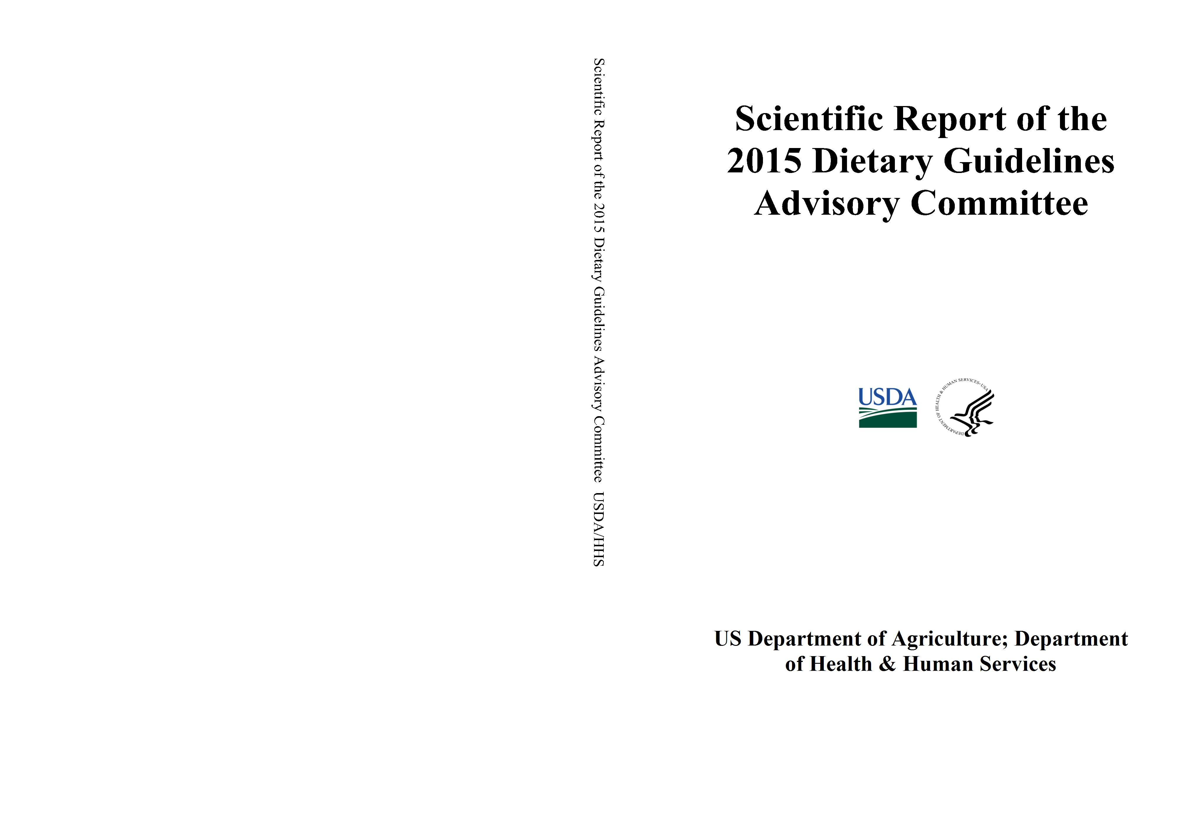 Scientific Report of the 2015 Dietary Guidelines Advisory Committee cover image