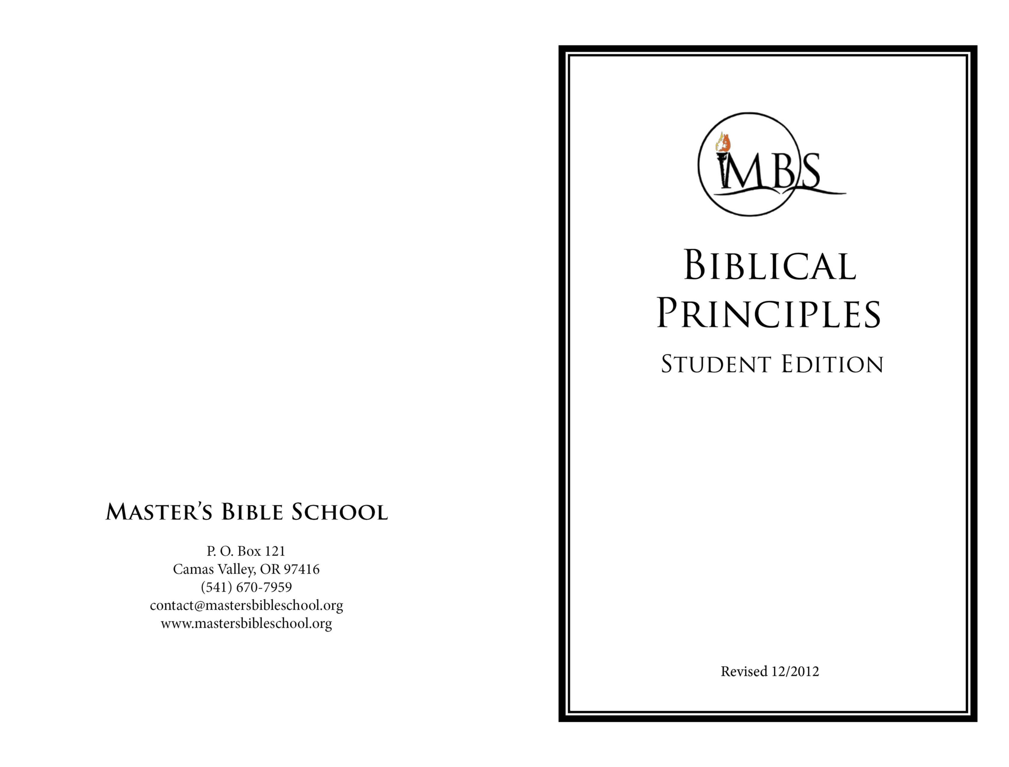 Biblical Principles - Student Edition cover image