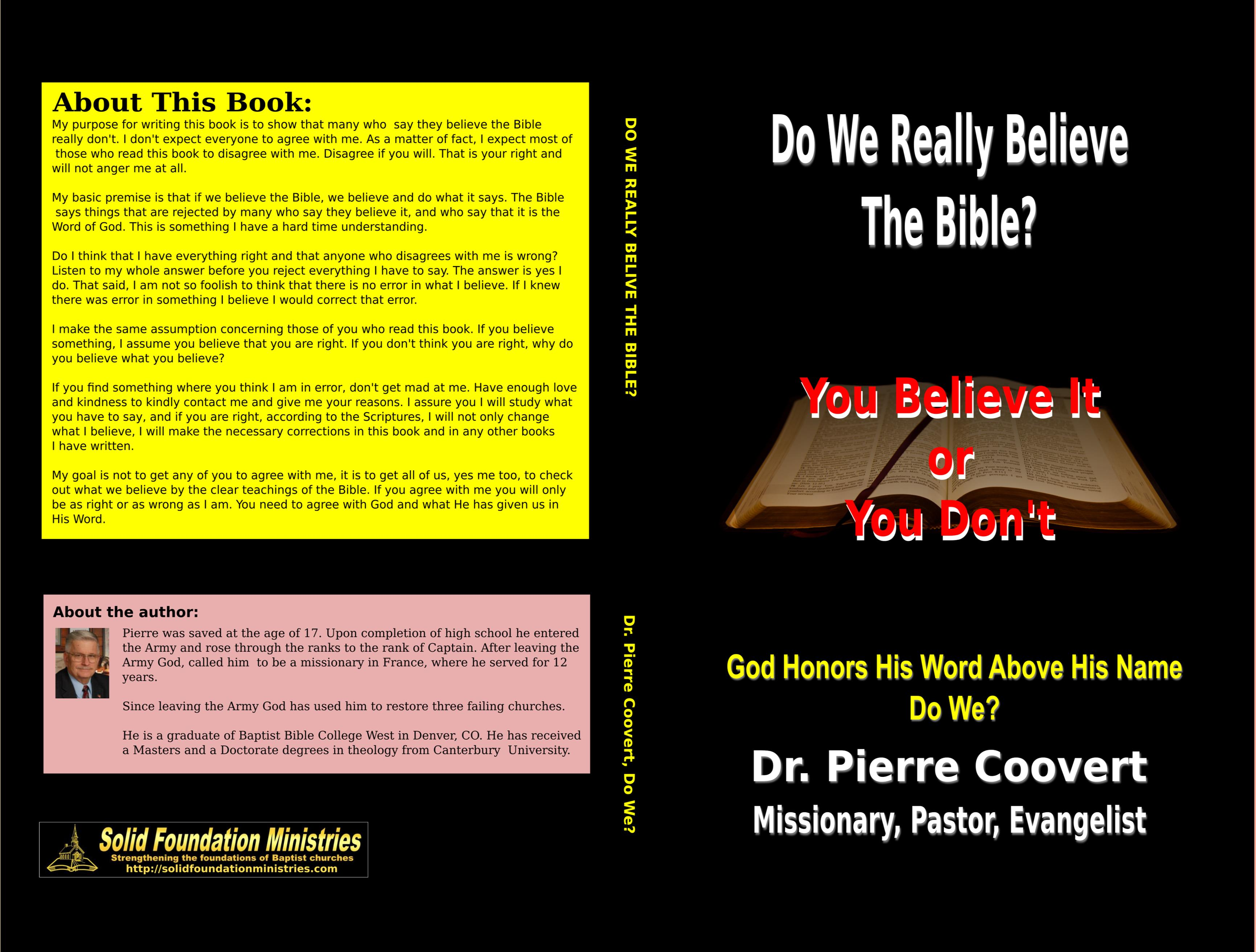 Do We Really Believe The Bible cover image