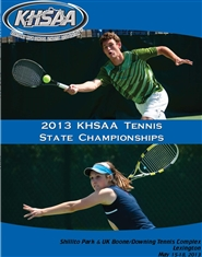 2013 KHSAA State Tennis Program (black & white) cover image