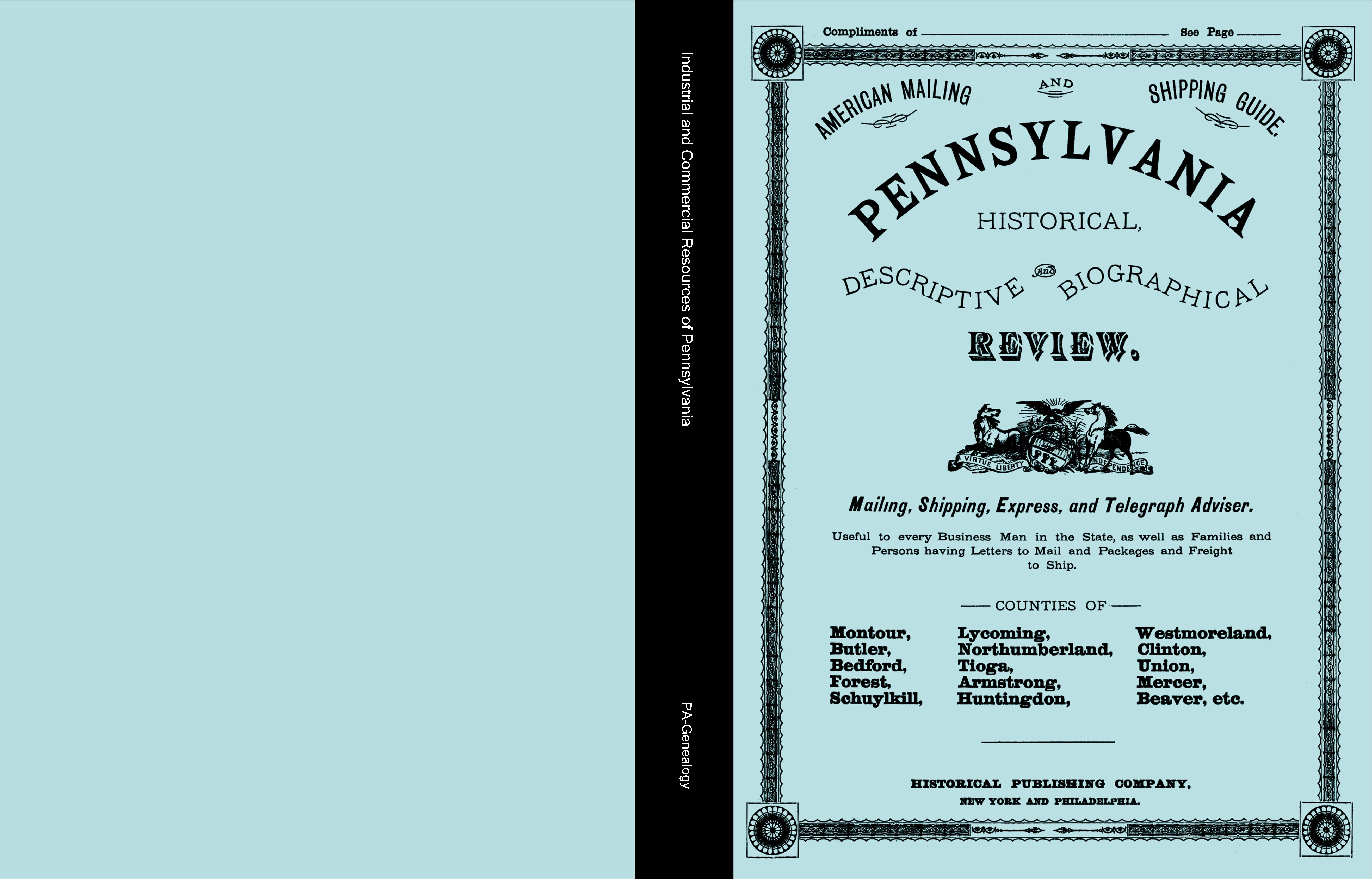 Industrial and Commercial Resources of Pennsylvania (Northern PA) cover image