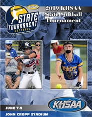 2019 KHSAA Softball State Tournament Program cover image