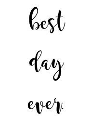 Daily Planner Notebook - Best Day Ever cover image