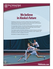 2016 ASAA/First National Bank Alaska Tennis State Championships Program cover image