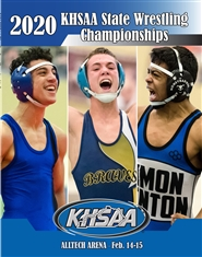 2020 KHSAA Wrestling State Championship Program cover image