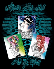 Never Die Art Coloring Book - Pin Up Girls cover image