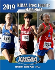 2019 KHSAA Cross Country State Meet Program (B&W) cover image