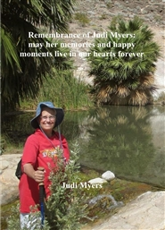 Remembrance of Judi Myers: may her memories and happy moments live in our hearts forever cover image