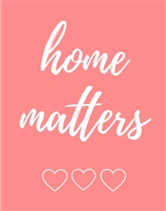 Home Matters Planner Notebook - Six Month Undated Home Organizer - Pink cover image