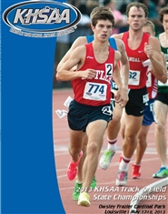 2013 KHSAA State Track & Field Program (black & white) cover image