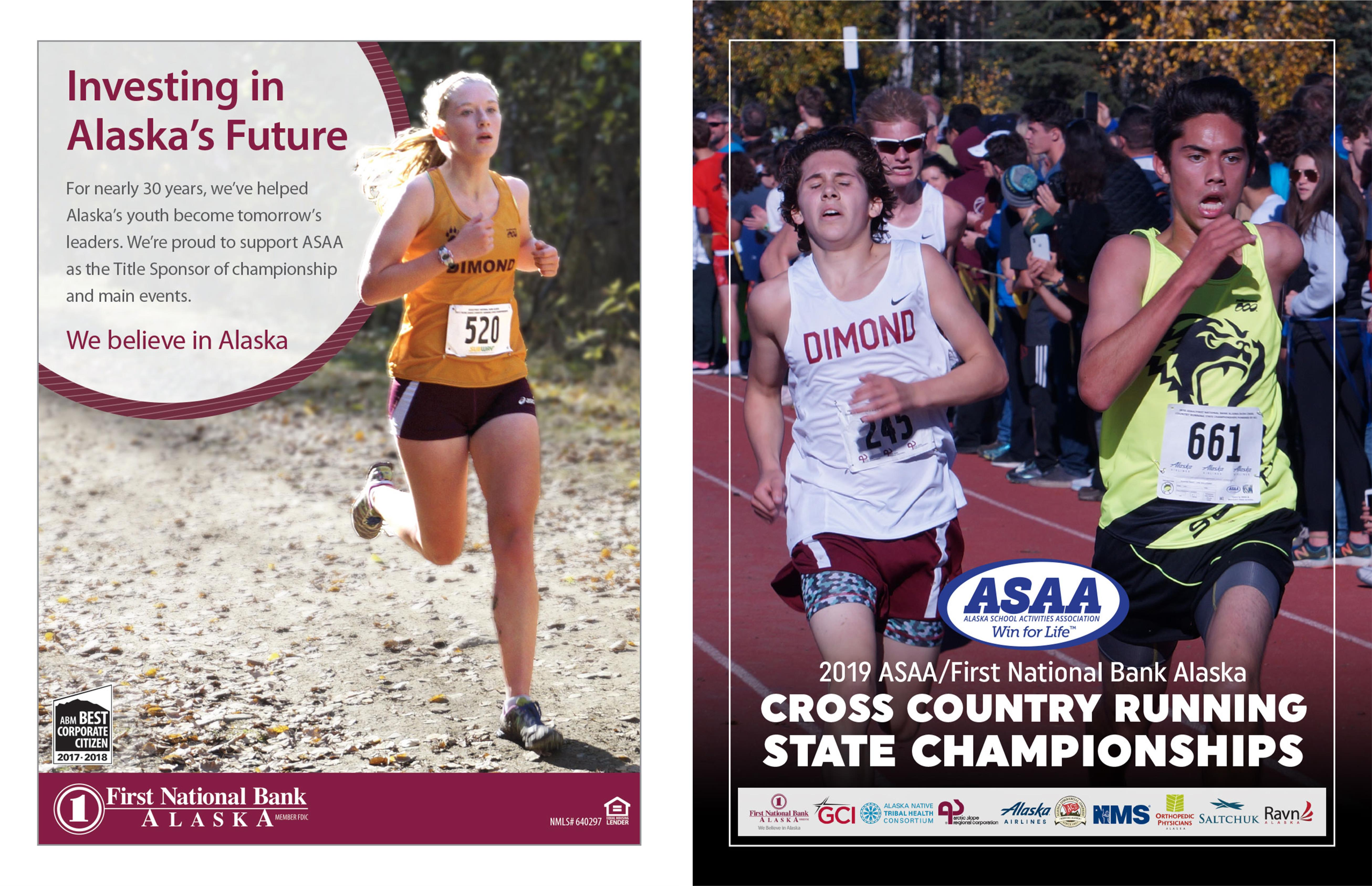 2019 ASAA/First National Bank Alaska Cross Country Running State Championships Program cover image