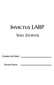 Invictus LARP Skill Journal cover image