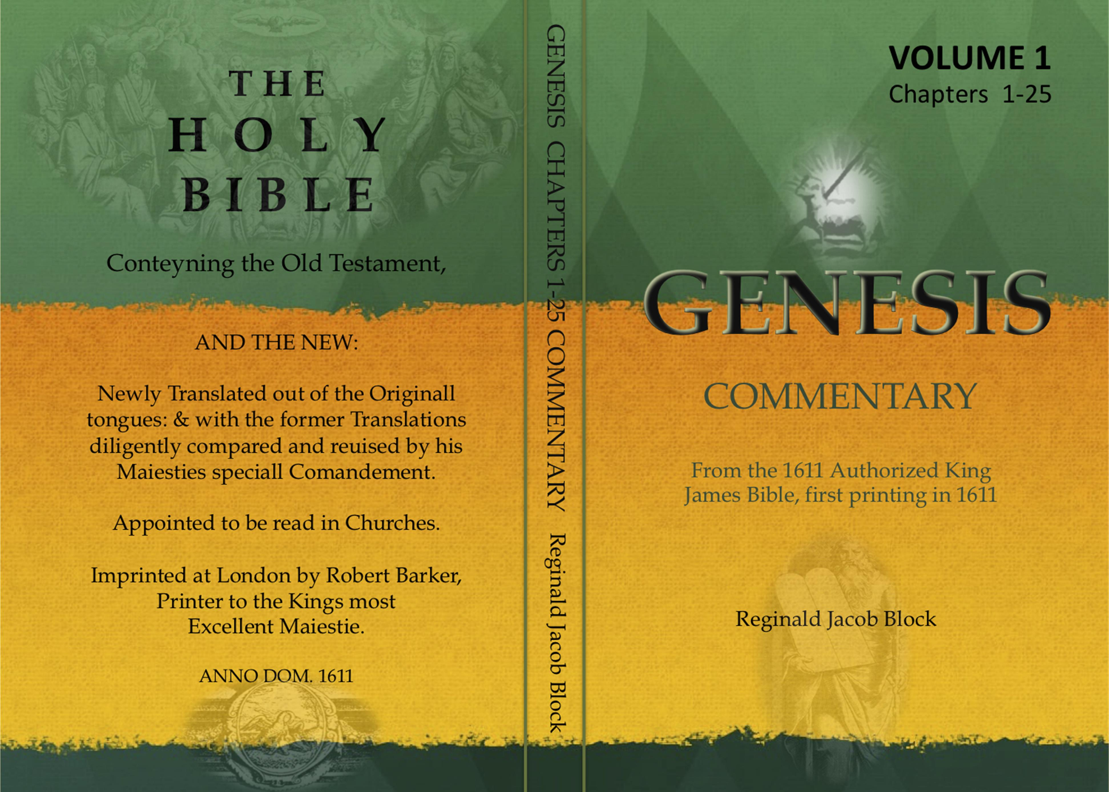 GENESIS COMMENTARY, CHAPTERS 1-25, VOLUME 1 cover image