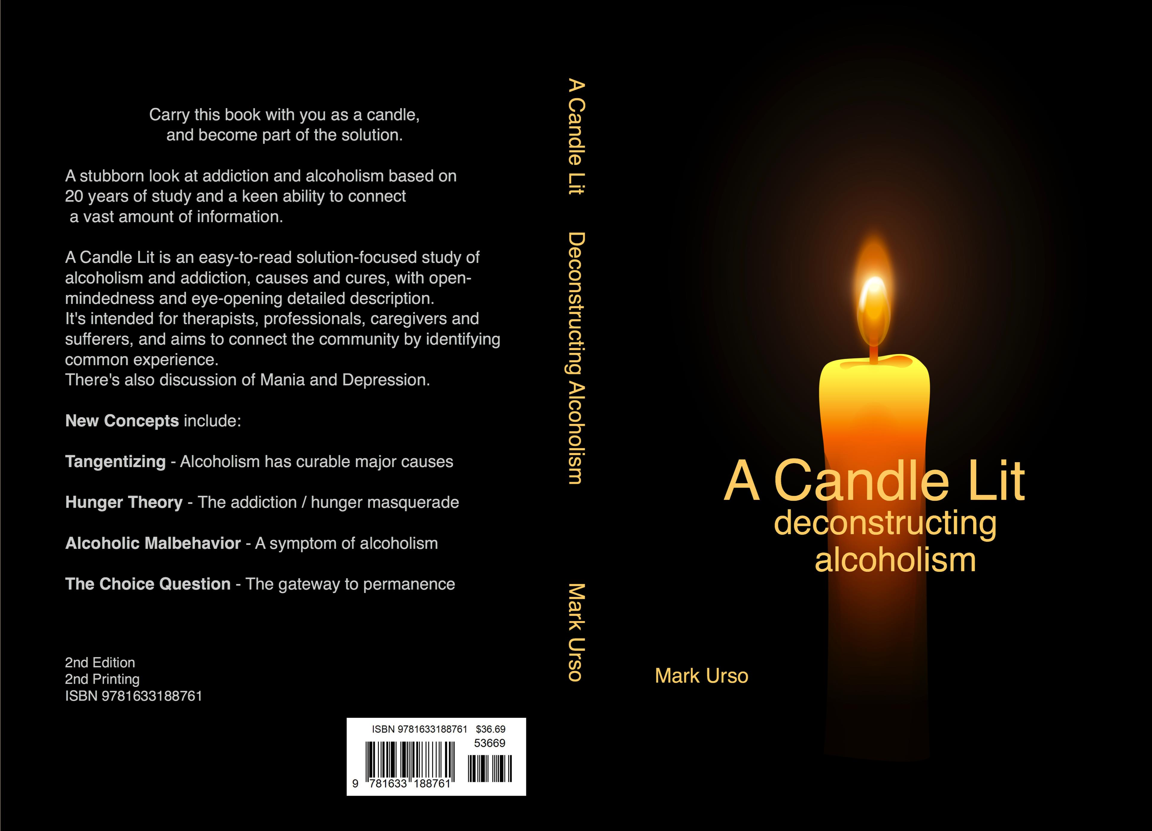 A Candle Lit, Deconstructing Alcoholism (2nd Ed) (2nd Print) cover image