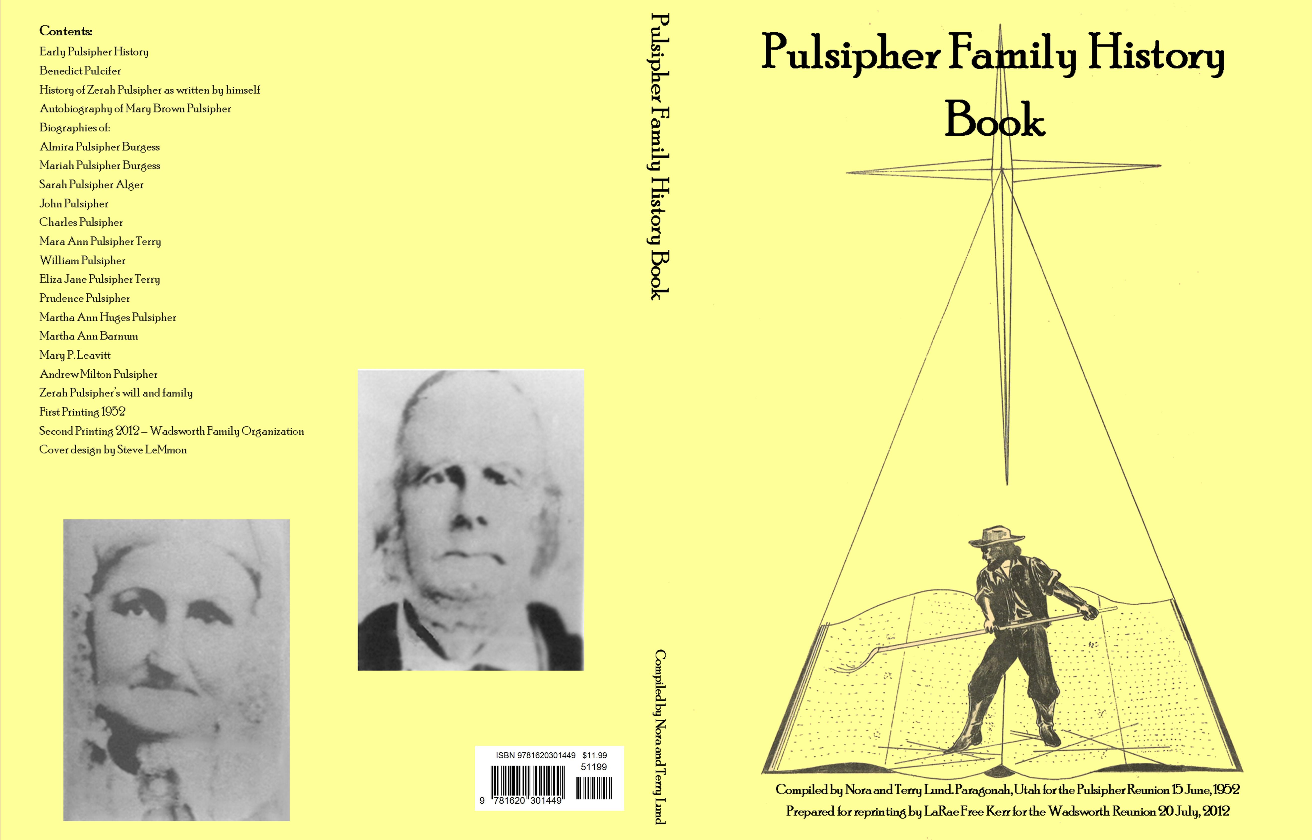 Pulsipher Family History Book cover image