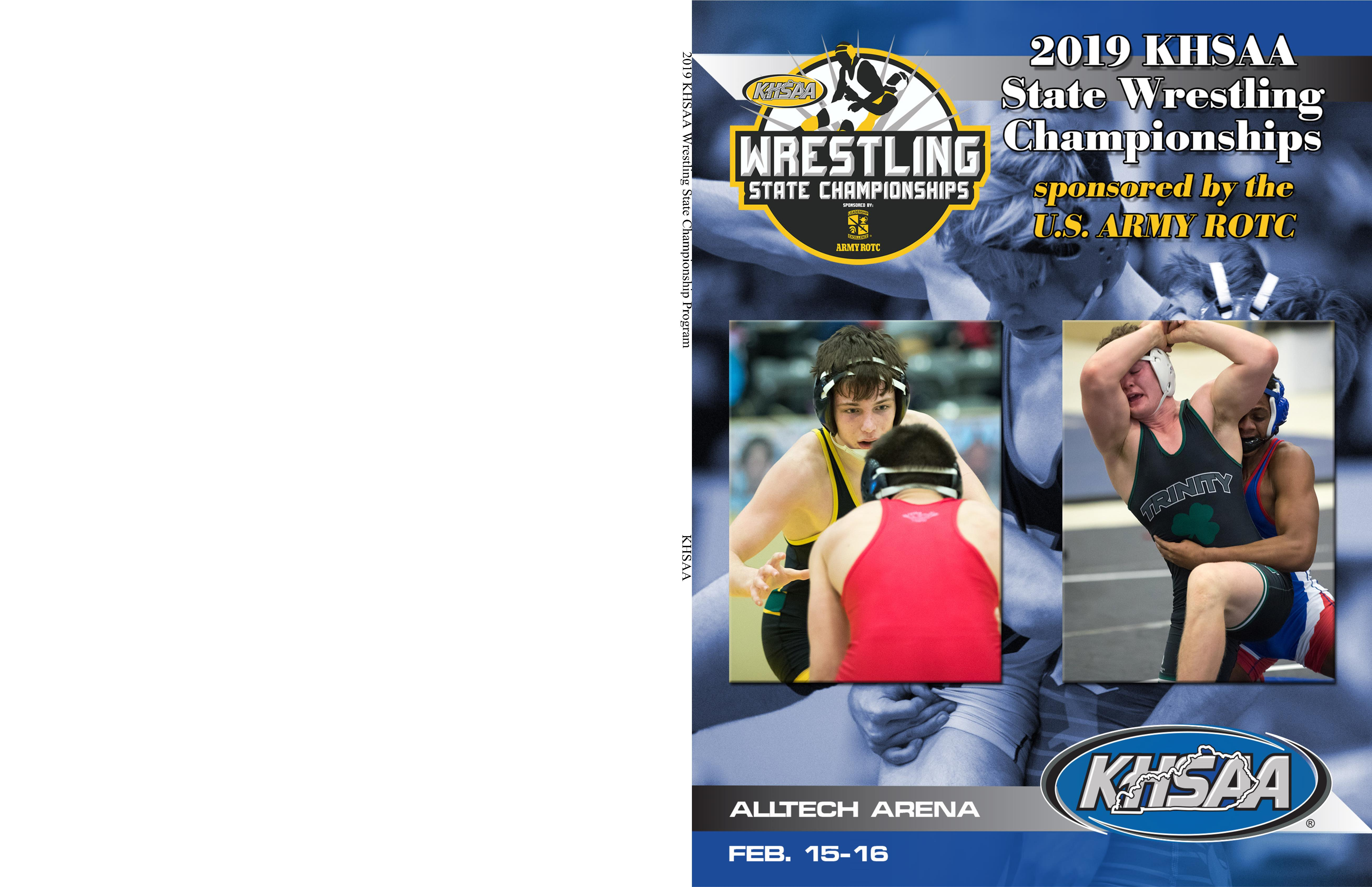 2019 KHSAA Wrestling State Championship Program cover image